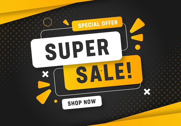 Banner de super venda de desconto