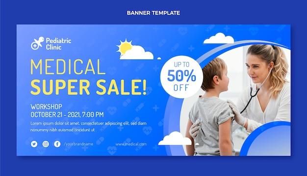 Banner de super venda médica gradiente