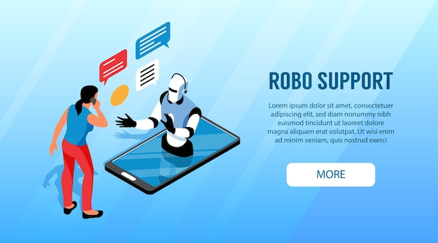 Banner de suporte robo