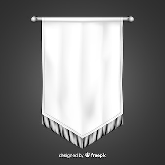 Banner de tecido branco