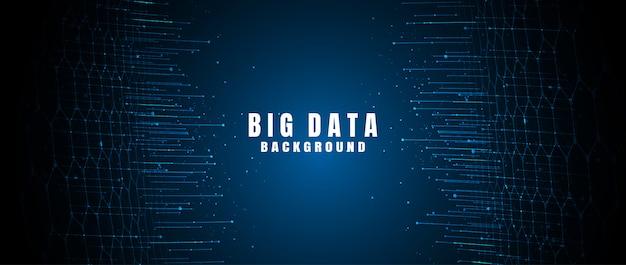 Banner de tecnologia abstrata com grande volume de dados