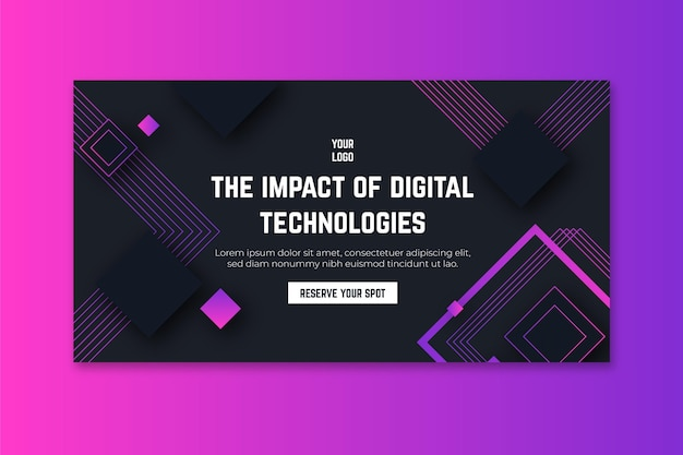 Banner de tecnologia e futuro