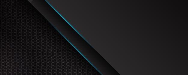 Banner de tecnologia futurista de luz azul abstrata