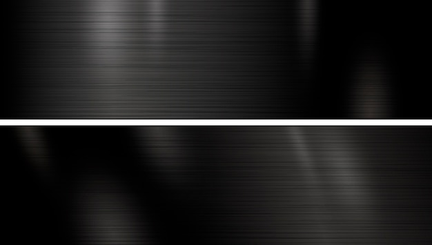 Banner de textura de metal preto