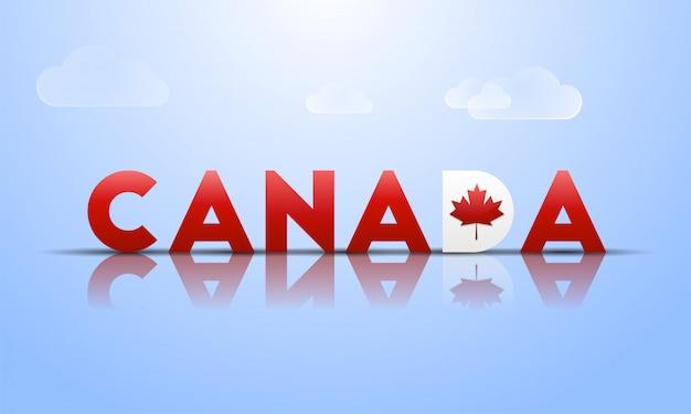 Banner de tipografia brilhante do canadá