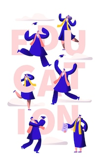 Banner de tipografia de motivação de escola de educação.