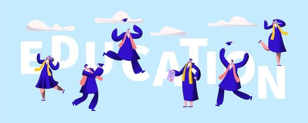 Banner de tipografia de motivação de universidade de educação.