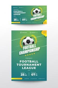 Banner de torneio de futebol