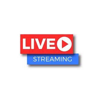 Banner de transmissão ao vivo