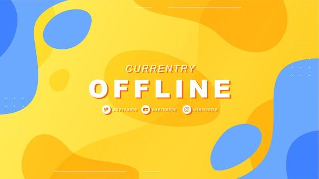 Banner de twitch offline abstrato no estilo do jogador 2
