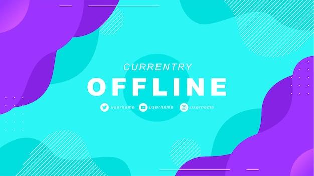 Banner de twitch offline abstrato no estilo jogador 1