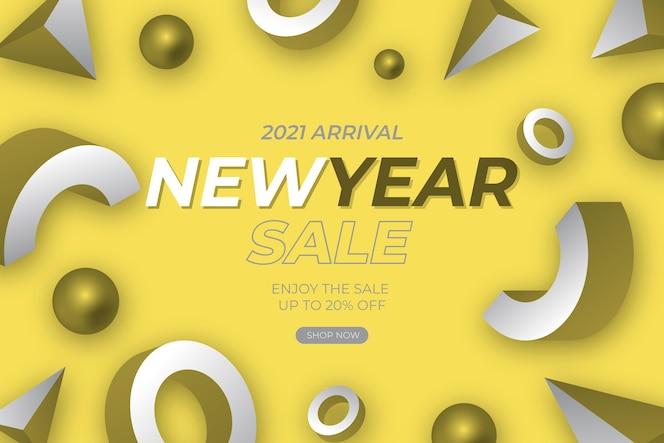 Banner de venda abstrato com a cor do ano