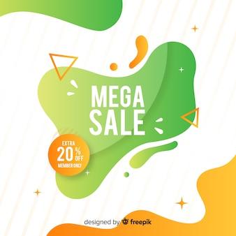 Banner de venda colorido abstrato
