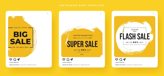 Banner de venda com estilo de postagem de cartão