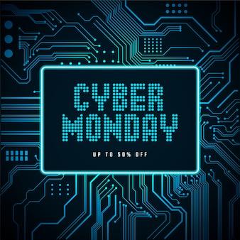 Banner de venda cyber segunda-feira