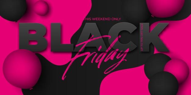 Banner de venda da black friday