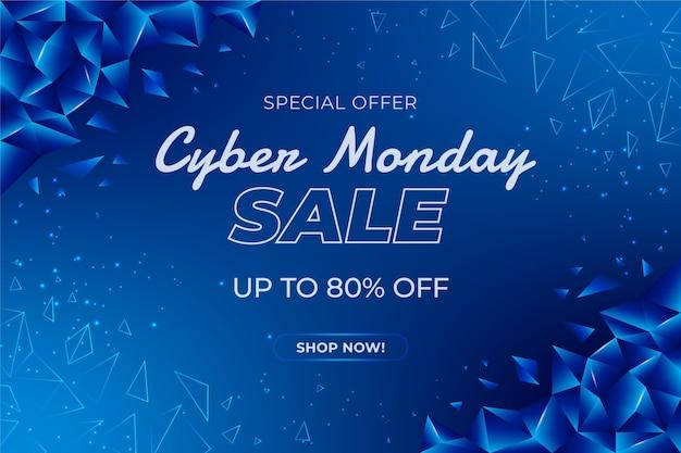 Banner de venda da cyber monday com desconto