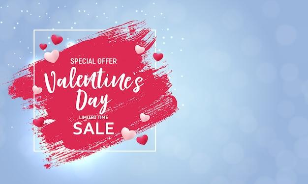 Banner de venda de amor e sentimentos de dia dos namorados