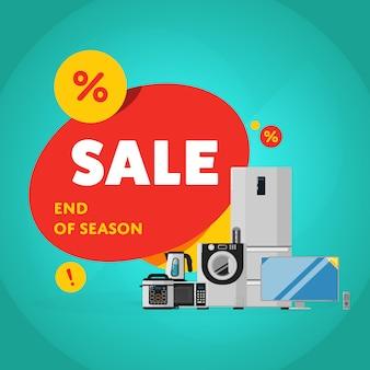 Banner de venda de desconto de eletrodomésticos