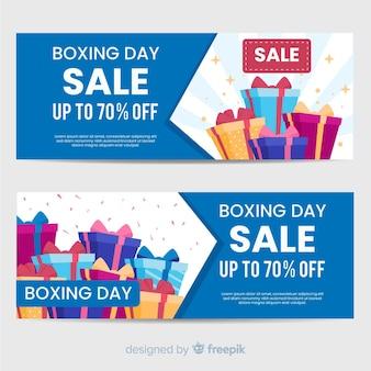 Banner de venda de dia de boxe