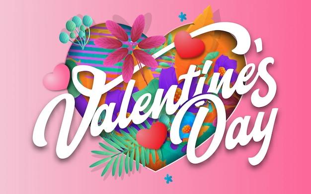 Banner de venda de dia dos namorados com flores