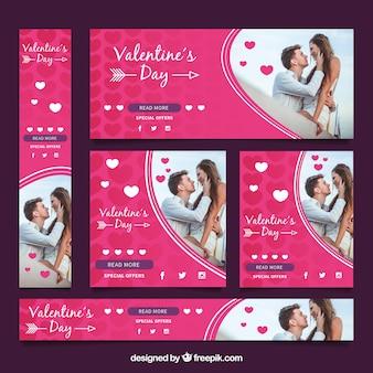 Banner de venda de dia dos namorados fotográfico