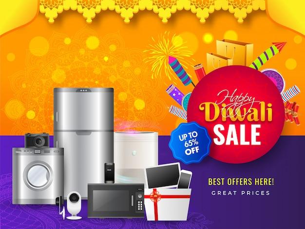 Banner de venda de diwali