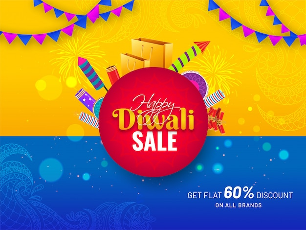 Banner de venda de diwali.