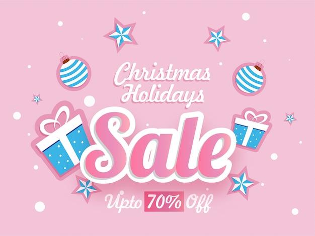 Banner de venda de férias de natal.