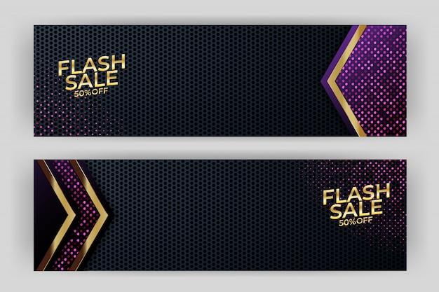 Banner de venda de flash design de luxo de fundo