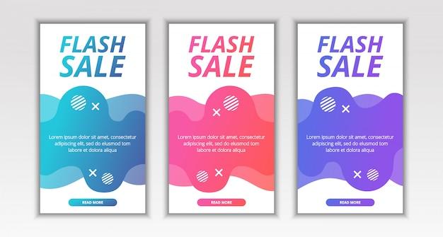 Banner de venda de flash móvel fluido moderno dinâmico