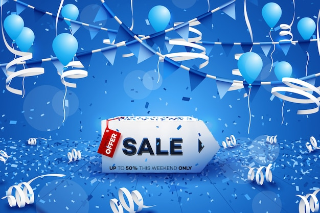 Banner de venda de inverno.