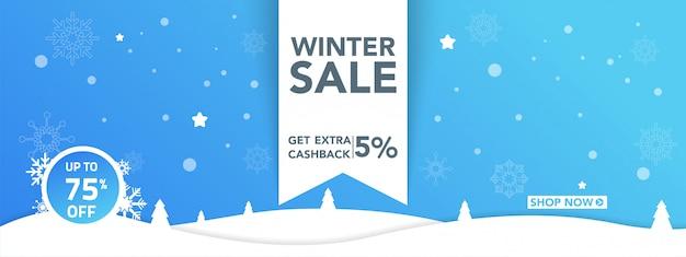 Banner de venda de inverno
