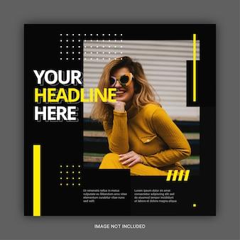 Banner de venda de moda de folheto quadrado para modelo de postagem de mídia social
