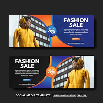 Banner de venda de moda para postagem em mídia social