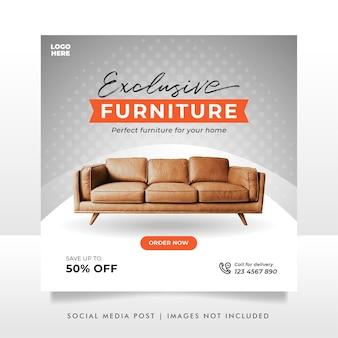 Banner de venda de móveis minimalista ou modelo de postagem em mídia social