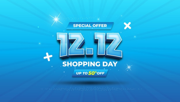 Banner de venda de oferta especial com efeito de texto