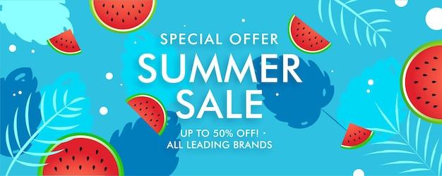 Banner de venda de oferta especial de verão no final da temporada