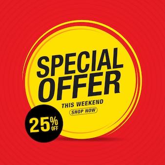 Banner de venda de oferta especial e venda