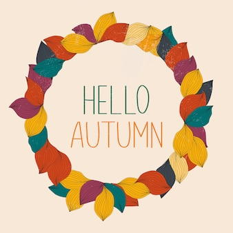 Banner de venda de outono com ilustração de folhas