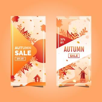 Banner de venda de outono