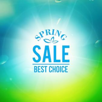 Banner de venda de primavera