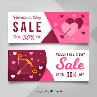 Banner de venda de seta dos namorados