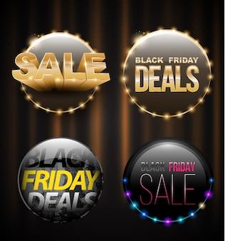 Banner de venda de sexta-feira negra definido para publicidade de promoção