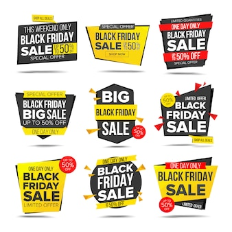Banner de venda de sexta-feira negra