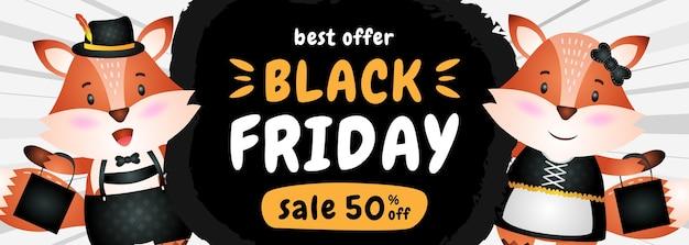 Banner de venda de sexta feira preta com desconto especial