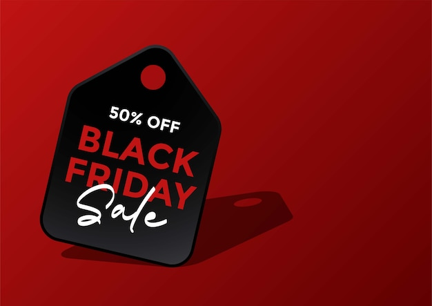 Banner de venda de tag de compras black friday