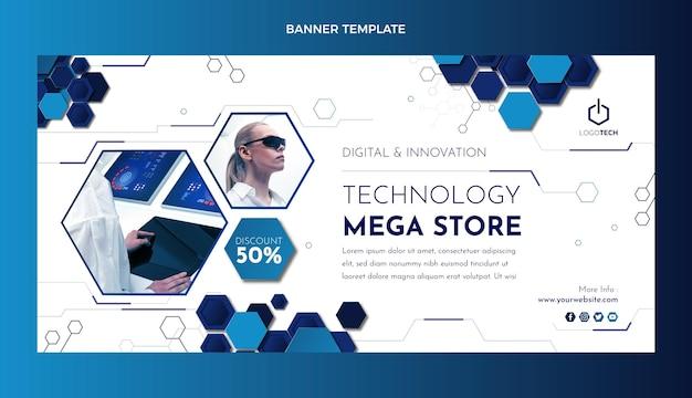 Banner de venda de tecnologia mínima de design plano