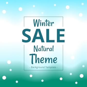 Banner de venda de tema natural moderno inverno minimalista
