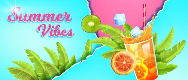 Banner de venda de temporada de verão em design plano